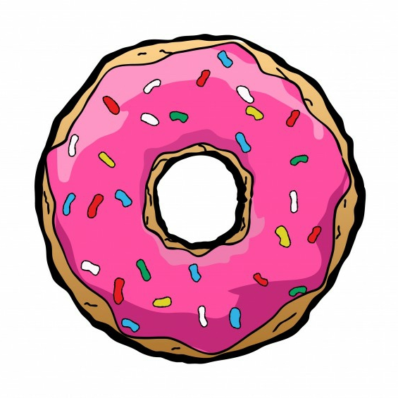 pink doughnut wallpaper